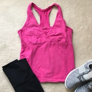 Old Navy Pink Racerback Workout Top